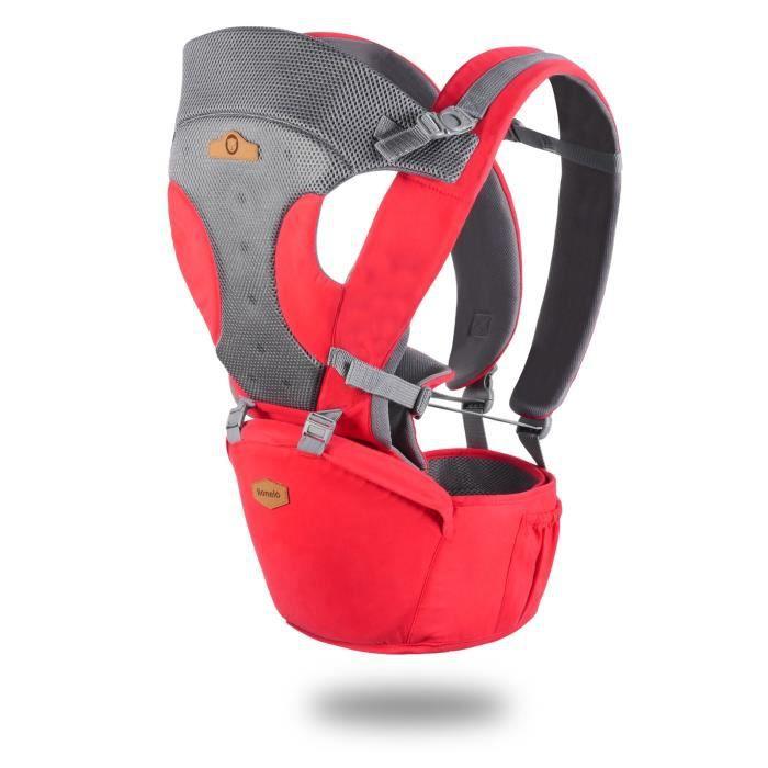 1c09d8db491a Porte bébé physiologique ventral et dorsal LAUREN - 3 couleurs (Rouge)
