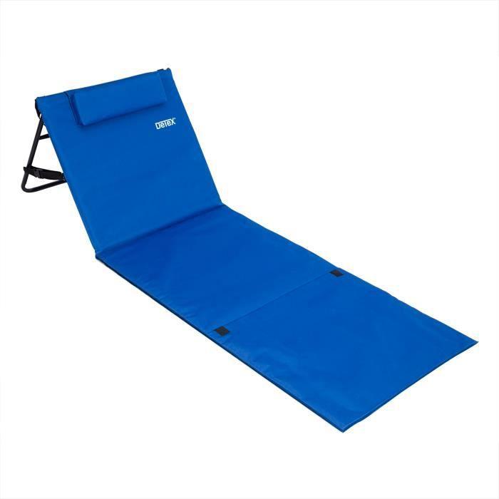 matelas de plage avec dossier et hanse 160 x 54 cm achat vente chaise longue matelas de. Black Bedroom Furniture Sets. Home Design Ideas