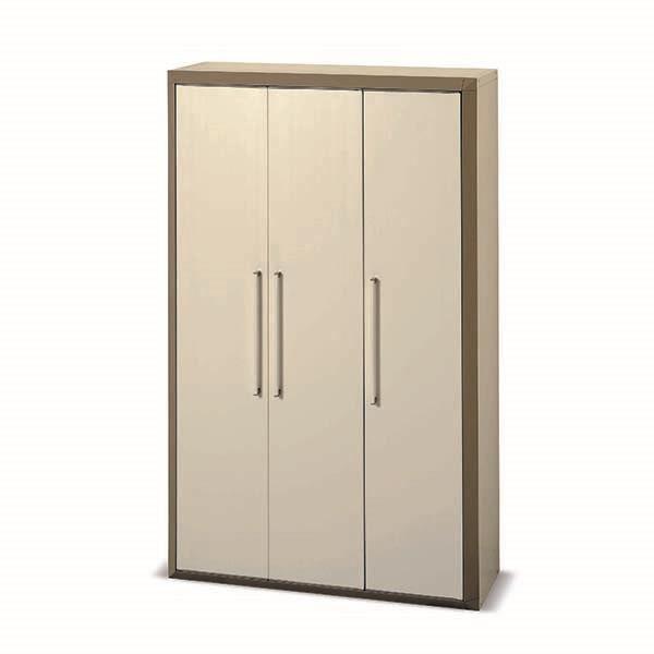Armoire haute en resine 3 portes prestige achat for Armoire modulable