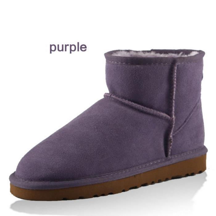 cuir bottes de neige bottes de coton bas sept couleurs Xlo3uR89Y