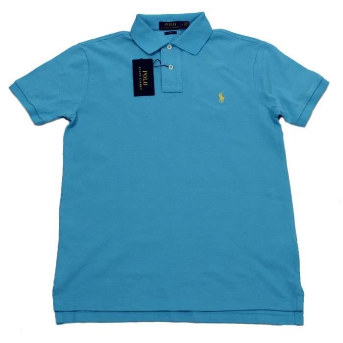 RALPH LAUREN polo Homme turquoise Turquoise - Achat   Vente polo ... 0d468f0fdce