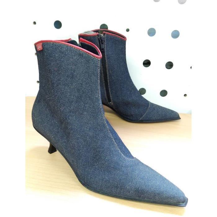 Bottines à talons Femme Marque Levis Bleu Jeans T36 Neuves