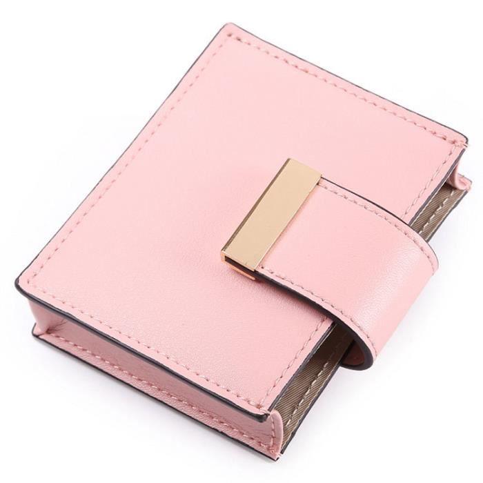Porte Carte Femme Coloré Grande Capacité Rose Rose Achat Vente - Porte carte de fidelite grande capacite