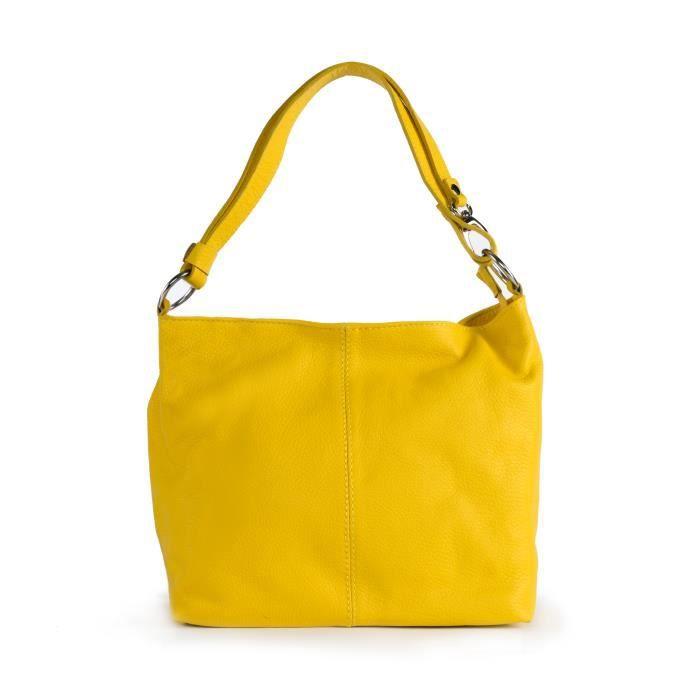 Sac à Main cuir femme - Modèle KUTA jaune