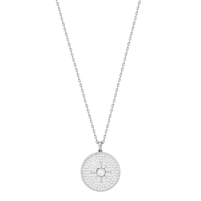 Long Collier Femme Bijoux Swarovski Locket - 5397124 Argent - Achat ... f1fa2c017f05