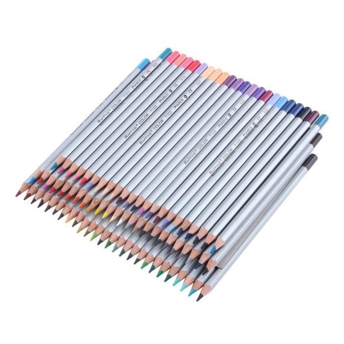 72 Couleur Crayons Plomb Art Peinture Huile Dessin Cadeau