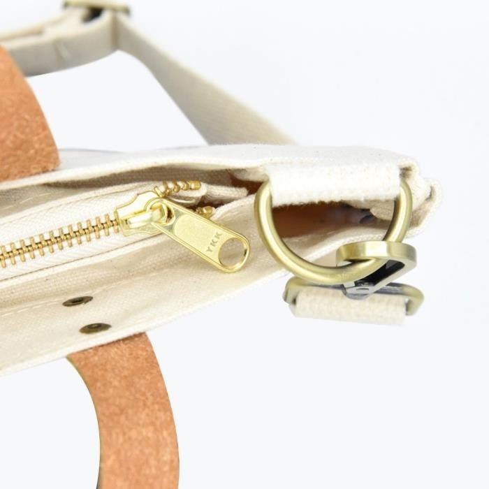 La conception unique petit sac fourre-tout en toile avec fermeture éclair, sac à main et épaule réglable. P4Y0X