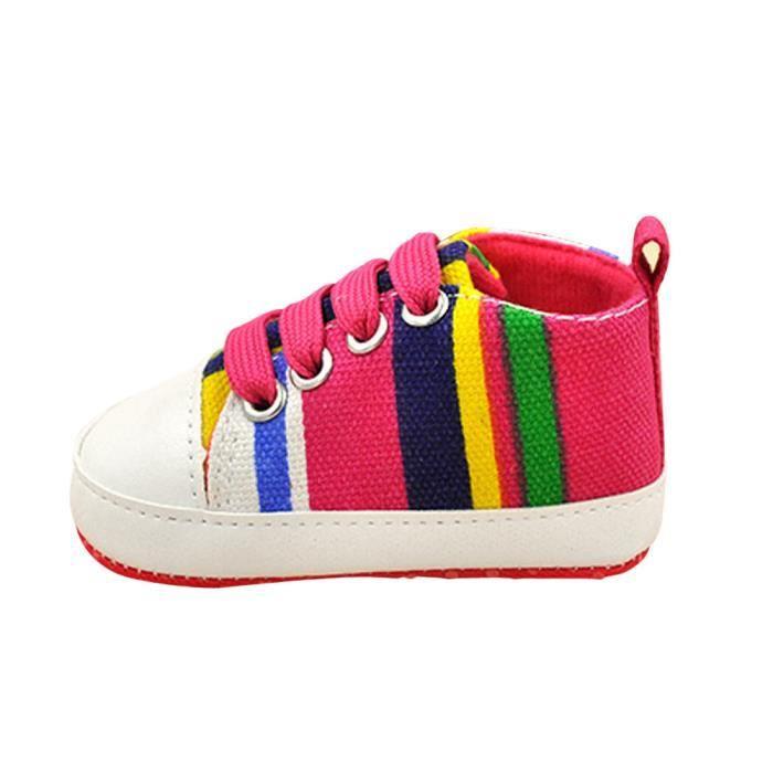Chaussettes Bébé Fille BOTTE Mode dérapant Sneakers Toile Rose Garçon Chaussures Sport rouge Anti Semelle Souple vFv1wxE5