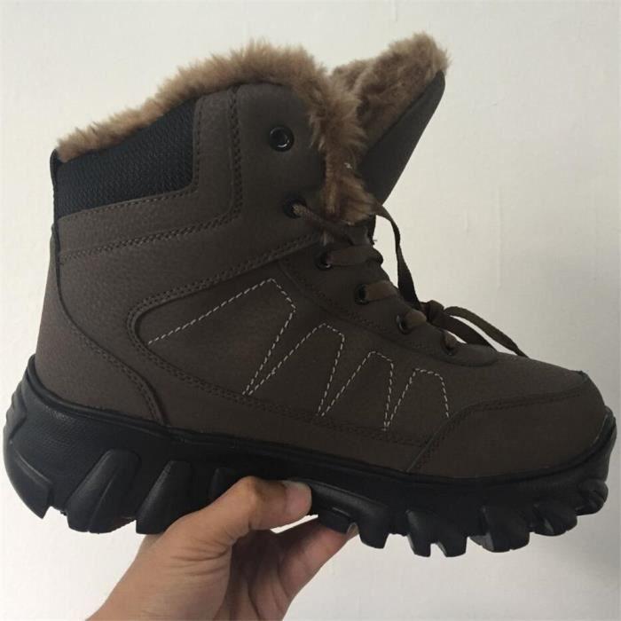 Bottes de neige hommes Botte longues air de chaussure Antidérapant épaisses pour plus coton chaud en plein grande taille 38-49