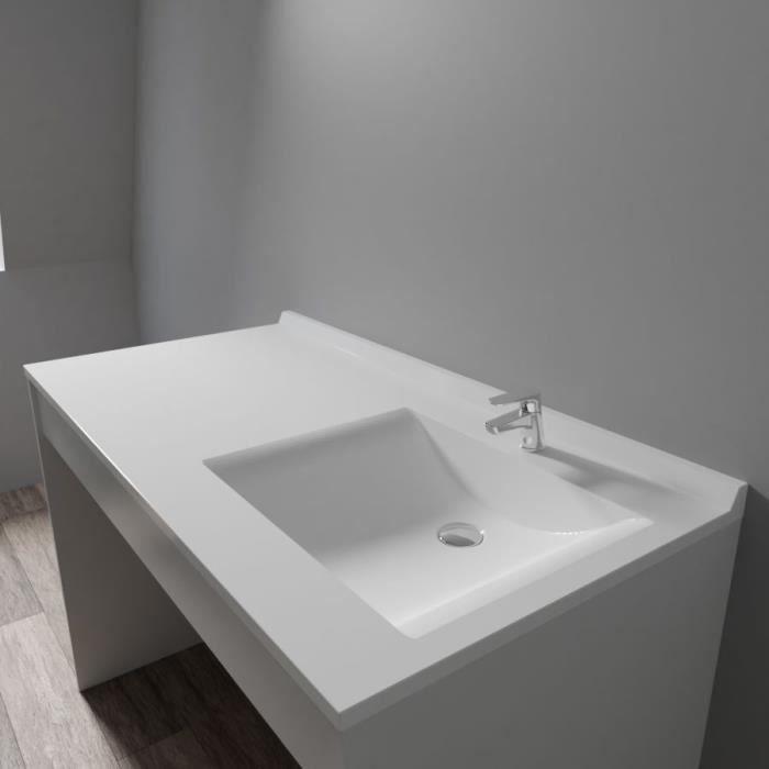 CREAZUR Plan simple vasque droite 124cm