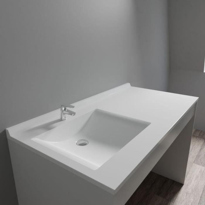 CREAZUR Plan simple vasque gauche 124cm