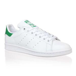 BASKET ADIDAS Baskets Stan Smith - Mixte - Blanc et vert