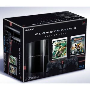 CONSOLE PS3 PS3 STARTER PACK 4 (uncharted + ratchet clank) / P