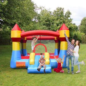 AIRE DE JEUX GONFLABLE Château Gonflable pour Enfants avec Toboggan pour