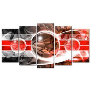 TABLEAU - TOILE Tableau Déco Abstrait Design Géométrie - 150x80 cm