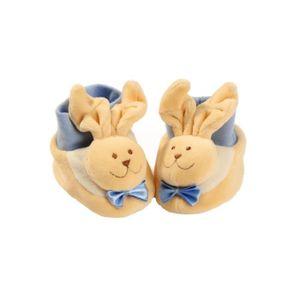 COFFRET CADEAU Lapin Baby-Bow bleu chaussons souples chaussettes