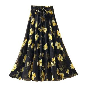 f500caf190846 JUPE Jupe à imprimé floral pour femme jupe jupe longue