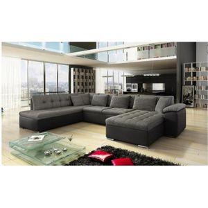 canap en u vente canap panoramique pas cher soldes d s le 9 janvier cdiscount. Black Bedroom Furniture Sets. Home Design Ideas