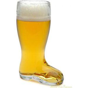 Verre à bière - Cidre Verre Géant Bière Botte