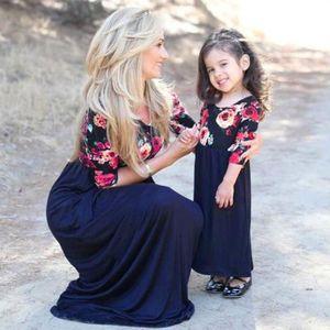 6e284398ad51d ROBE Femmes Mère Fille Correspondant Maman Floral Enfan