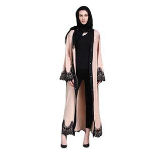 ROBE Vêtements femmes musulmanes islamique dentelle Épi