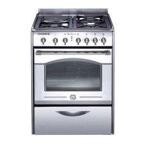 CUISINIÈRE - PIANO Cuisinière mixte pyrolyse 60 cm - 3 foyers gaz,…