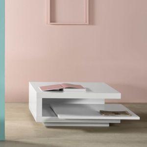 table basse moderne laquee blanche salon design achat. Black Bedroom Furniture Sets. Home Design Ideas