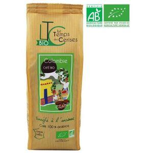 CAFÉ - CHICORÉE LE TEMPS DES CERISES Café Grain Colombie Bio 250 g