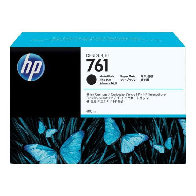 HP Pack de 1 Cartouche d'encre 761 Original - Noir - 400 ml