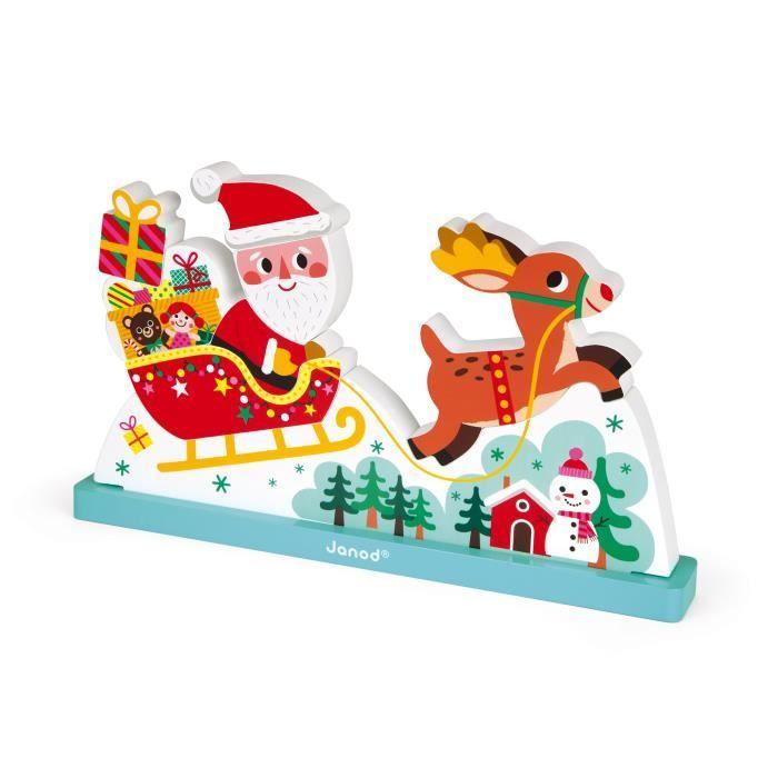 JANOD Puzzle vertical magnétique ''Le traîneau du Père Noël''