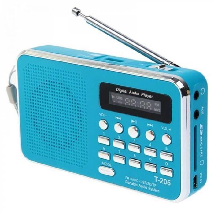 Portable Haut-parleurs Blue Electronique Couleurs T05 Lcd Affichage Numérique Fm Radio Mp Lecteurmusique Mini