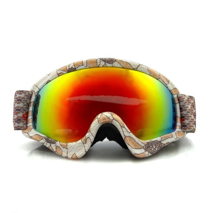 635be2f6d6 Adolescents anti-brouillard lunettes de ski en plein air vent de sport  inrayable lunettes de protection résistant