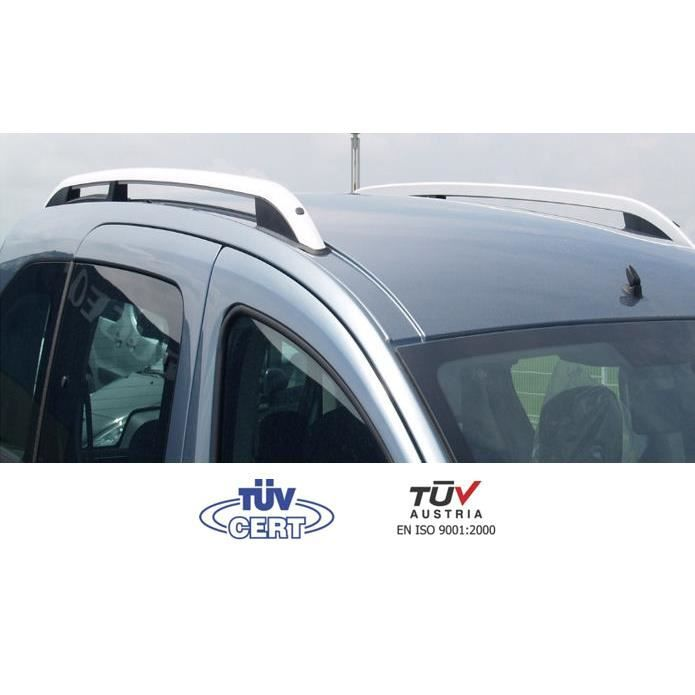 Barres de toit longitudinales pour Renault Kangoo 1999-01 2008 alu + pieds  plastique noir fb8f1c1f2a77