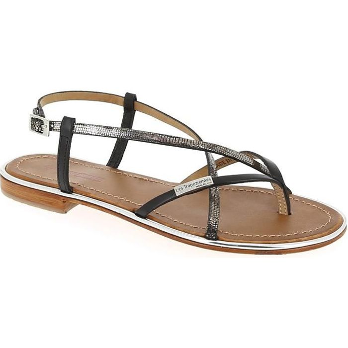 Sandales et nu-pieds - LES TROPEZIENNES MONACO Noir noir - Achat ... cdce6621fb12