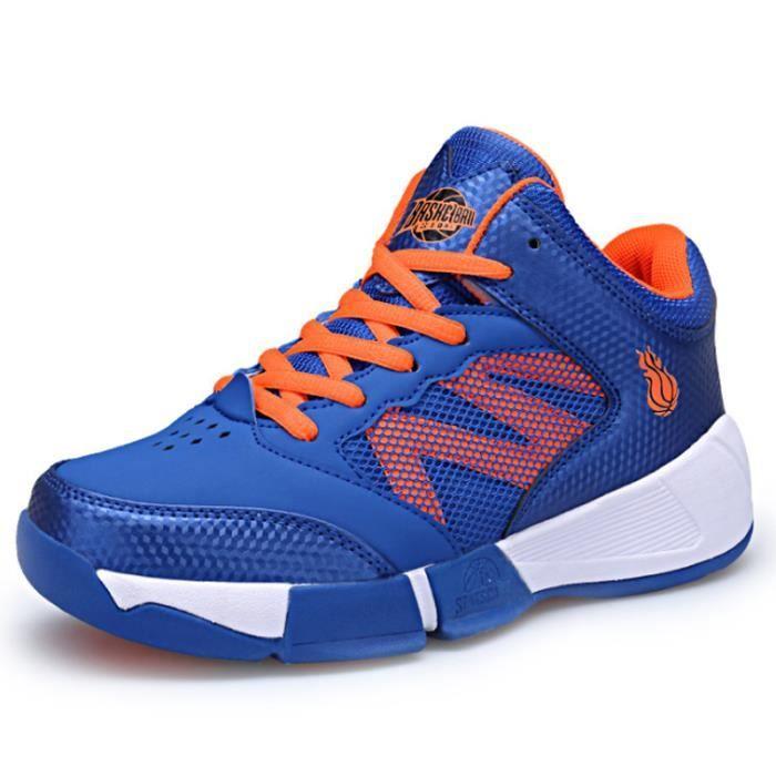 Chaussures De Sport Enfants Plus gés De Sport Basketball Garçons Plein Air Sport Respirant Confortable Casual Baskets Taille 33-42
