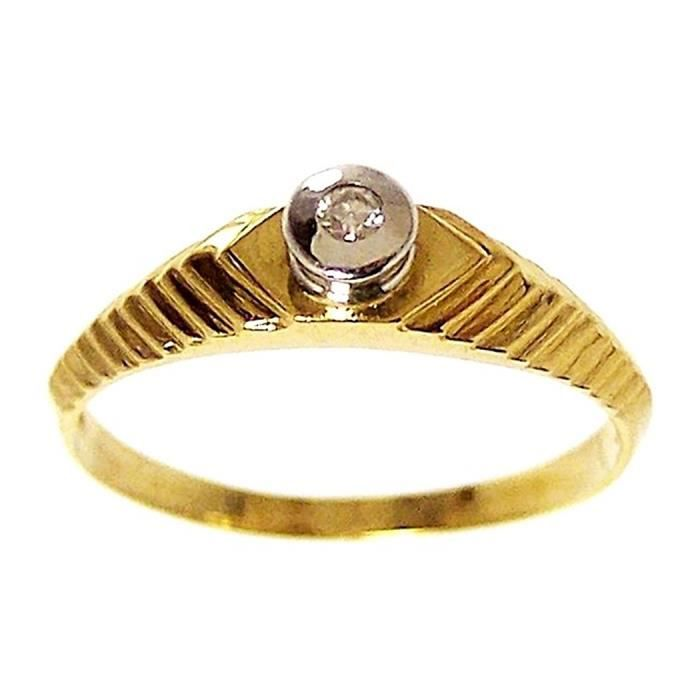 Bague 18k lumineux [211] - Taille: 55