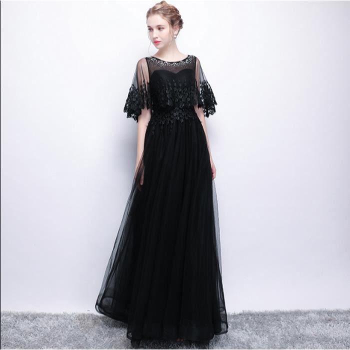 340a4307561 Elégante A-ligne robe de soirée en dentelle Robes de bal Robe De Soirée Robe  de soirée avec demi manches plus la taille