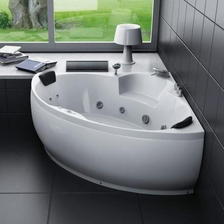 baignoire baln o d 39 angle 2 places 150x150cm pas cher. Black Bedroom Furniture Sets. Home Design Ideas