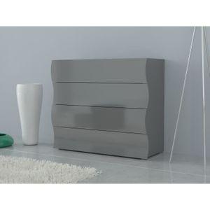 Commode laque gris - Achat / Vente pas cher