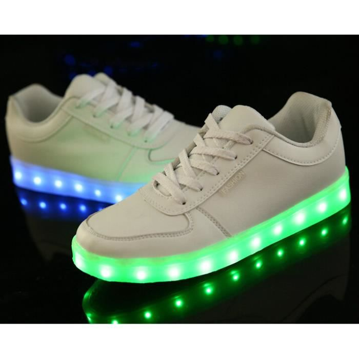 Lacets Lumineux OFFERT Chaussures LED Femme Hom...