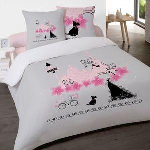 housse de couette 200x200 avec rabat au pied achat vente pas cher. Black Bedroom Furniture Sets. Home Design Ideas