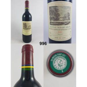 VIN ROUGE Château Duhart-Milon 2001 - N° : 996, Pauillac, Ro