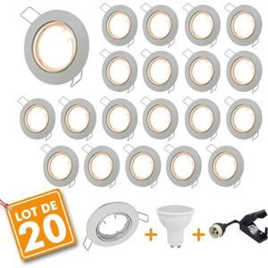 SPOTS - LIGNE DE SPOTS Lot de 20 Spot LED encastrable complet orientable