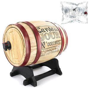 FONTAINE A COCKTAIL Tonneau à Vin - Distributeur de Vin - 3 Litres - C
