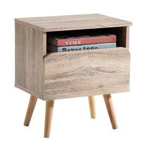 CHEVET Table de chevet GIORGIA table de nuit casier avec