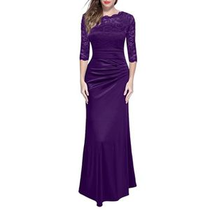 Mistress Bianca Fabricant8Femme RobeViolet36taille In Little Lace Maxi Trim Dress Lilac 0nwP8OkX