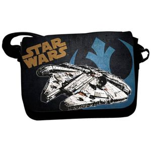 BESACE - SAC REPORTER STAR WARS Sac Besace - Millenium Falcon - Noir