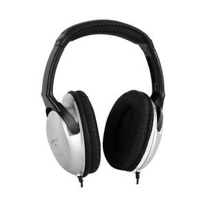 CASQUE - ÉCOUTEURS Skytec Casque audio DJ hifi adaptateur plaqué or