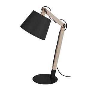LAMPE A POSER JUKKA Lampe de bureau en métal et bois avec abat-j
