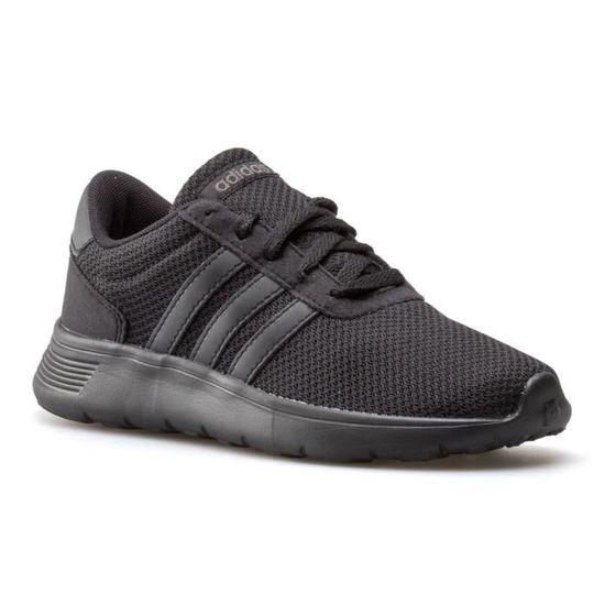 Chaussures Adidas Lite Racer K Noir Noir - Achat / Vente basket